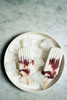 Caramelized Rhubarb and Yogurt Ice Pops | Apt 2B Baking Co.
