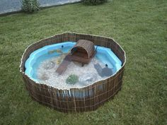 Sides and pool idea for reptile or amphibian home or play area