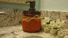 Ball Elite Mason Jar, 17 Additional Color Options, 16 oz. Soap Dispenser, Bronze Pump, Nickel Pump, Bathroom, Kitchen, Sets Available, Gift by ItWorks4Me on Etsy