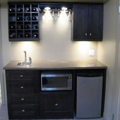 Decor & Tips: Small Basement Bar Ideas With Wet Bar Cabinet And ...