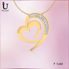 Looking for glamorous gold and diamond pendants online   #Pendants #DiamondPendants #IskiUski #Diamond