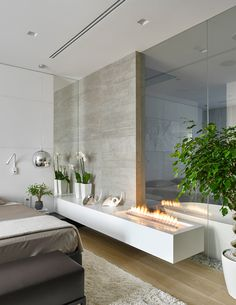 Natural Materials Adorning Sophisticated Moscow Apartment by Alexandra Fedorova