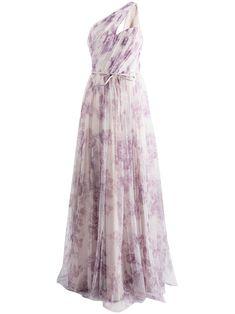 Marchesa, Bridesmaid Dress Colors, Wedding Bridesmaid Dresses, One Shoulder Gown, Floral Prints, Women Wear, Purple, Fashion Design, Delivery