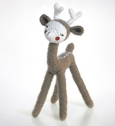 Awww.  Kassia is so sweet!   Found via the website Nechepurenka with the following description: Kassia is a very tender baby-deer girl Material: wool, mohair, acrylic
