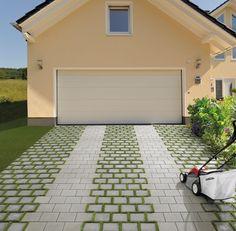Mit MultiTec-Öko gibt es nun auch eine begrünbare Variante im MultiTec-System. Durch die 30 mm breite Rasenfuge bietet der Stein einen begrünbaren Flächenanteil von fast einen Drittel - die ökologische Alterantive für Ihre Garageneinfahrt.