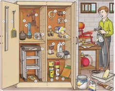 Learn the vocabulary for house supplies needed to fix the home