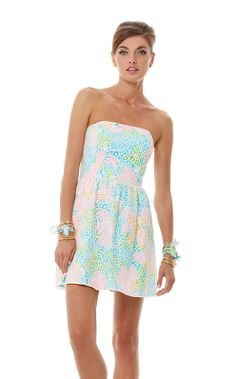 68579 - Lilly Pulitzer Lottie Strapless Lace Dress