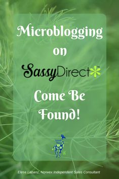 If you are in Direct Sales, you need to be microblogging and Sassy Direct will help you be found!