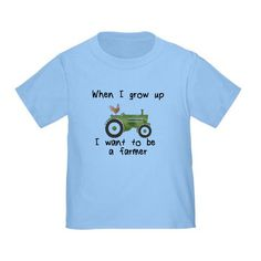 Fun Indie Art from BoomBoomPrints.com! https://www.boomboomprints.com/Product/broadmeadow/When_I_grow_up_I_want_to_ba_a_farmer/Toddler_T-Shirts/2T_Baby_Blue_Toddler_T-Shirt/