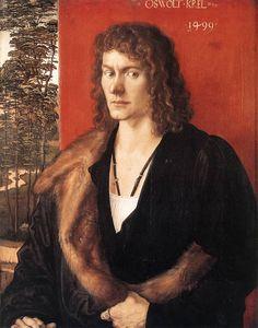 Daily artworks: Albrecht Dürer (1471 - 1528) Portrait of Oswolt Krel, a merchant from Lindau (Lake Constance),