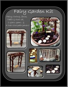 fairy garden kit,fey garden,fairy faerie pixie garden, msytical garden kit…