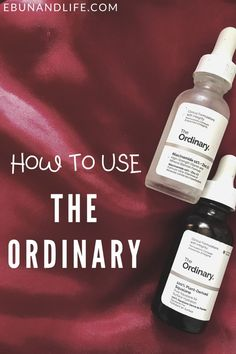 Are you confused about The Ordinary Skincare brand amd don't know where to start? This post will help. Here's how to use The Ordinary Skincare #theordinary #skincareproductsthatwork #beautyhacks Skincare For Oily Skin, Drugstore Skincare, Best Skincare Products, Oily Skin Care, Skincare Routine, Beauty Products, The Ordinary Skincare Guide, The Ordinary Products, Tea Tree Oil For Acne