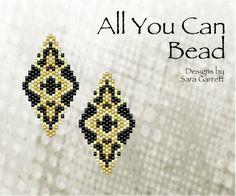Peyote Earrings Pattern 129 Bead Weaving INSTANT DOWNLOAD PDF Odd Count by AllYouCanBead on Etsy https://www.etsy.com/listing/527982351/peyote-earrings-pattern-129-bead-weaving