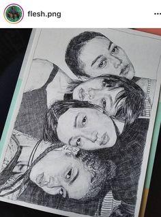 Sketchbook Inspiration, Art Sketchbook, Art Sketches, Art Drawings, Drawing Portraits, Pencil Drawings, Art Projects For Adults, Ap Studio Art, A Level Art