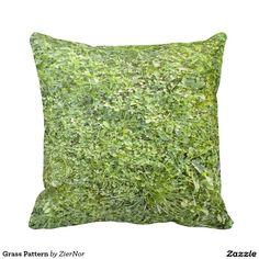Grass Pattern Throw Pillow