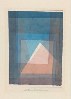 Inky Blues and pop of sorbet or terracotta to keep things bright and fresh. Perfect modern melding of masculine and feminine.  Paul Klee - Pyramide