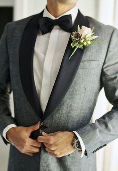 Grey tuxedo. #weddingideas #groom #groomsmen #weddings #mensfashion #bespoke #menstyle #menswear #weddingsuits #customsuits #menssuits #tuxedo #mens #weddingtuxedo #tux #giorgentiweddings #suit #summerstyle #streetwear #streetstyle