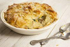 Chicken, Jerusalem Artichoke and Leek Filo Pie:  http://www.foodlovermagazine.com/recipes/chicken-jerusalem-artichoke-leek-filo-pie/4808 #pie #recipe