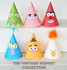 The Vintage Muppet Collection - Custom Party Hats SET of SIX from Mary Had a Little Party. $22.50, via Etsy.