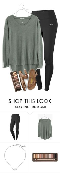 nike shoes school in 14 days im freaking out by elizabethannee ❤ liked on Polyvore featuring NIKE, Madewell, Kendra Scott, Urban Decay and Birkenstock