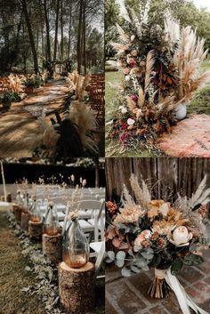 Orange Wedding Colors, Fall Wedding Colors, Country Wedding Colors, Sunset Wedding, Forest Wedding, Wedding Themes, Wedding Decorations, Wedding Ideas, Table Decorations