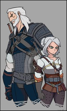 The Witcher by Negsus on DeviantArt The Witcher Wild Hunt, The Witcher Game, The Witcher Books, Ciri Witcher, Witcher Art, Dnd Characters, Fantasy Characters, Female Characters, Game Character Design
