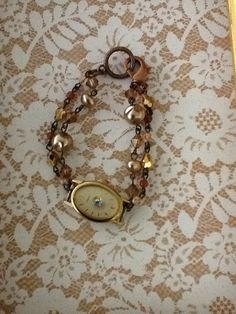 Holiday Joy Repurposed Vintage Watch Face Amber by WinterPearls, $32.00