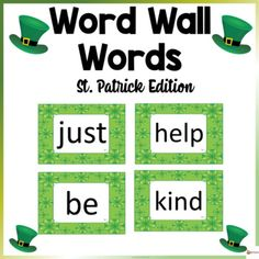 Word Wall Words St. Patrick ThemeThese word wall word cards St. Patrick theme in this 200-page packet will add a fun and bright focus in your classroom. The download contains 100-200 words from Fry's high-frequency list.Check out our other Word Wall Words. Click below.Word Wall ...