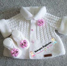 Knitting pattern available on Baby Knitting Patterns, Baby Cardigan Knitting Pattern, Knitted Baby Cardigan, Knit Baby Sweaters, Knitted Baby Clothes, Knitting For Kids, Knitting Stitches, Baby Patterns, Free Knitting