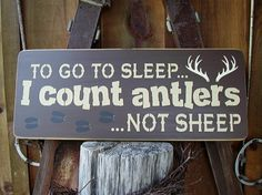 To go to sleep I count antlers not sheep large by RusticNorthern, $40.00