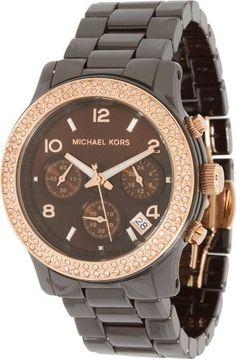 Michael Kors Women's MK5517 Runway Chocolate Ceramic Watch Michael Kors. $302.99