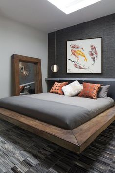The impact of bedroom furniture will make you have a good night's sleep. Let's face it, and a modern bedroom furniture design can easily make it happen. Men's Bedroom Design, Bedroom Colors, Home Decor Bedroom, Bedroom Furniture, Furniture Design, Wall Design, Bedroom Sets, Guest Bedrooms, Master Bedrooms