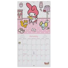 Hello Kitty® and Friends 2018 Mini Wall Calendar, 12-Month  Hallmark.com