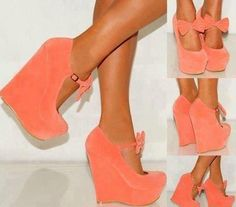2c2bf12ebc6 Shop Sweet Girl Orange Suede Lovely Bowtie Wedge Heel Shoes on sale at  Tidestore with trendy design and good price. Come and find more fashion  Wedges here.