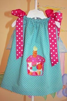 Baby's 1st Birthday Pillowcase Dress