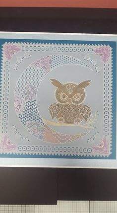 Parchment Cards, Hobbies And Crafts, Card Ideas, Projects To Try, Owl, Patterns, Frame, People, Design