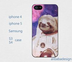 Dolla Dolla Bill Sloth Astronaut  iPhone 4 case by AlibabaDesign, $6.88