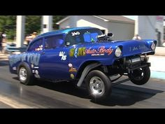 Ride Along in Steve Crook's Blew By You 1956 Chevy AA/Gasser Nostalgia Drag Racing - YouTube