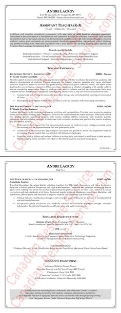 How to find an excellent international teaching position Teacher - teaching assistant resume sample