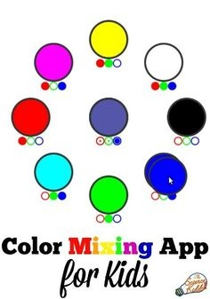 Science Kiddo's own fun and simple kids Color Mixing App makes learning about your computer's colors as easy as R-G-B! Color mixing science for kids.