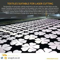 #Repost @snapit.co.id  Fulfill your needs   We pleasure to cut your pattern on fabric #snapitlasercut #snapitlasercuttingspecialist #fabric #textiles #designer #fashion #design #snapit #medancreative #medan #lasercut #lasercutting #custommade #placeyourorder #placeyourdesignhere #wearenotthebestbutwetryingthebest #wegivethebest by jovitawu08