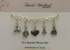 A Special  Flower Girl Lucky Charm Bracelet by DMaitlandJewellery