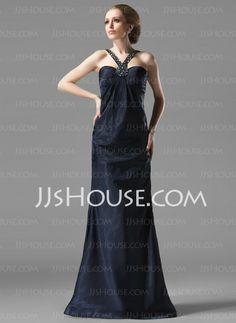 Evening Dresses - $128.99 - Sheath Sweetheart Floor-Length Charmeuse Evening Dress With Ruffle Beading (017002273) http://jjshouse.com/Sheath-Sweetheart-Floor-Length-Charmeuse-Evening-Dress-With-Ruffle-Beading-017002273-g2273