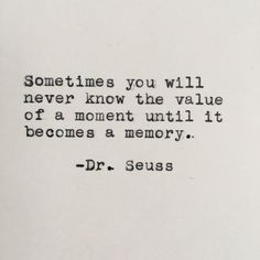 Dr. Seuss Quote Typed on Typewriter - 4x6 White Cardstock