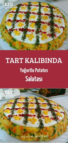 Tart Kalıbında Yoğurtlu Patates Salatası Desert Recipes, Quiche, Ham, Deserts, Muffin, Food And Drink, Cooking, Breakfast, Salta