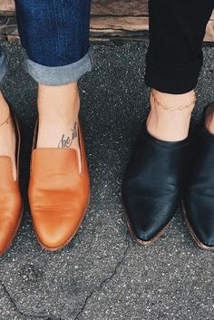 Loafers and mules.