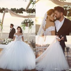 Princess 2016 Spring Wedding Dresses A-Line Off Shoulder Backless Lace Ball Gown Tulle Cap Sleeves Cheap Sexy Bridal Wedding Gowns Plus Size Online with $131.04/Piece on Sweet-life's Store | DHgate.com