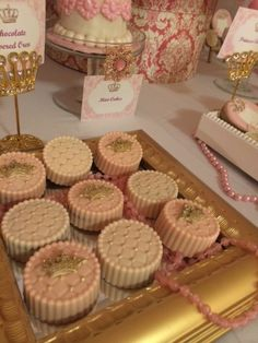 Gorgeous chocolate covered Oreos at a Princess Party!  See more party ideas at CatchMyParty.com!  #partyideas #princess