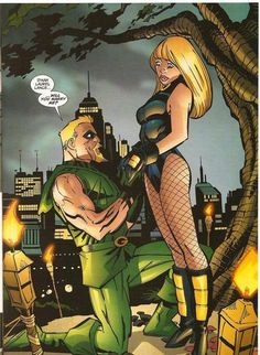 green arrow and black canary wedding special Green Arrow, Dc Heroes, Comic Book Heroes, Super Hero Couples, Dc Couples, Nightwing And Starfire, Arrow Black Canary, Dinah Laurel Lance, Green Lantern Hal Jordan