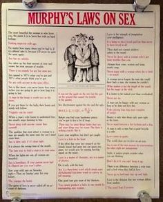 Murphys law of sex poster